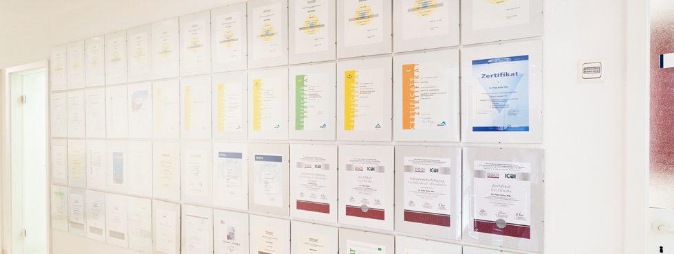 Zertifikate und Auszeichungen